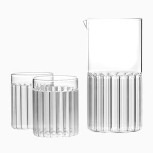 Bessho Carafe and Tumblers from Fferrone, Set of 3