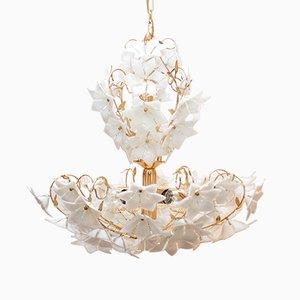 Lámpara de araña italiana de cristal de Murano, años 90