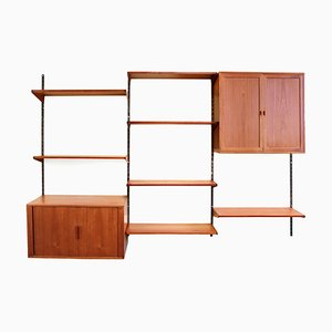 Mid-Century Teak Wall Unit by Kai Kristiansen for FM Møbler