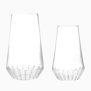Glass Rossi Vases by Felicia Ferrone for Fferrone, Set of 2