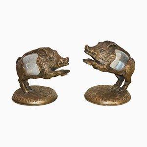Wildschwein Skulpturen von Gabriella Crespi für Atelier Gabriella Crespi, 1970er, 2er Set