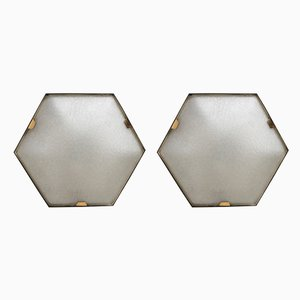 Hexagonal Ceiling Lamps from Stilnovo, 1950s, Set of 2