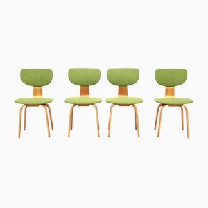 Birch Model SB03 Dining Chairs by Cees Braakman for Pastoe, 1950s, Set of 4