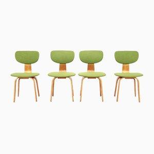 Chaises de Salle à Manger Modèle SB03 en Bouleau par Cees Braakman pour Pastoe, années 50, Set de 4