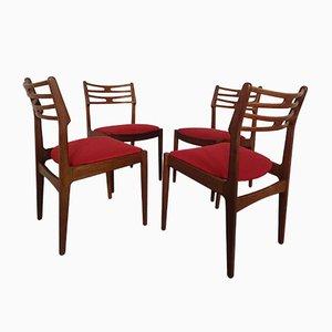 Chaises de Salle à Manger en Teck par Johannes Andersen pour Vamo Mobelfabrik, Danemark, années 60, Set de 4
