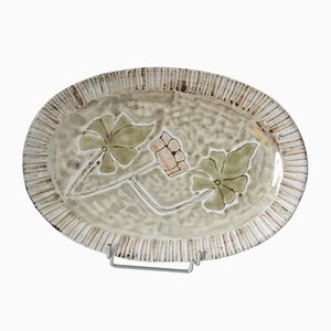 Mid-Century Decorative Plate from Atelier Vieux Moulin