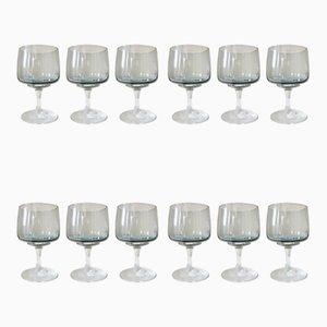Danish Crystal Glasses by Per Lütken for Holmegaard, 1962, Set of 12
