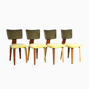 Mid-Century Dining Chairs by Cor Alons for C. de Boer, 1940s, Set of 4