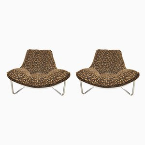 Tubular Steel Lounge Chairs, 1970s, Set of 2
