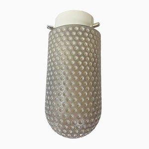 Vintage Mikrofon Deckenlampe aus Milchglas & Metall von Peill & Putzler, 1960er