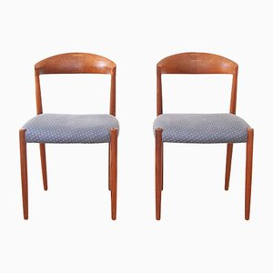 Teak Dining Chairs by Harbo Solvsten & Knud Andersen for J.C.A. Jensen, 1960s, Set of 2