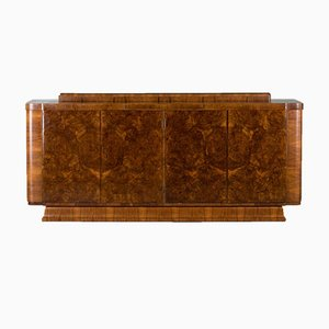 Vintage French Burr Walnut Sideboard