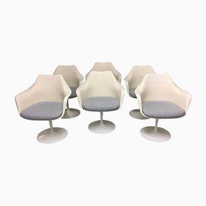 Sillas giratorias Tulip de Eero Saarinen para Knoll Inc. / Knoll International, años 70. Juego de 6