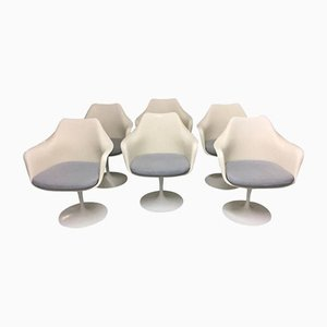 Tulip Swivel Chairs by Eero Saarinen for Knoll Inc. / Knoll International, 1970s, Set of 6