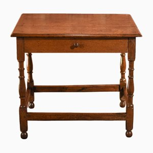 Antique Victorian Oak Console Table, 1850s