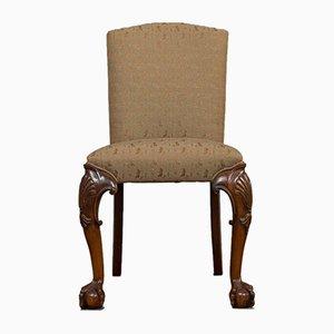 Englischer Vintage Beistellstuhl aus Mahagoni im georgianischen Stil