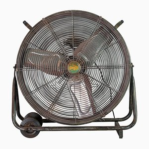 Large Vintage Industrial Standing Fan from Superdry