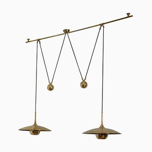 Mid-Century Brass Model Onos 40 Pendant Lamp by Florian Schulz, 1970s