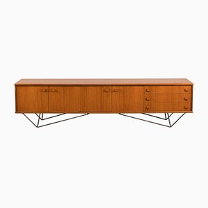 Large Steel and Teak Sideboard, 1960s