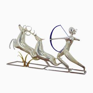 Glasskulptur von Brychta Jaroslav, 1950er