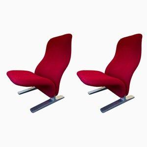 Concorde Sessel von Pierre Paulin für Artifort, 1960er, 2er Set