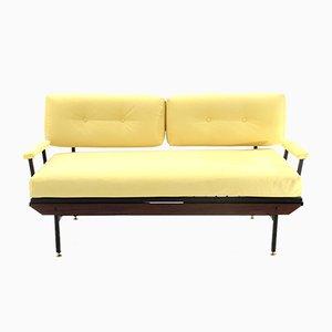 Gelbes italienisches Mid-Century Sofa, 1950er