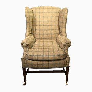 Antique George III Mahogany Wing Armchair