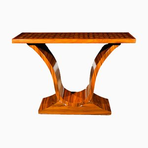 Vintage Art Deco French Walnut Console Table, 1920s