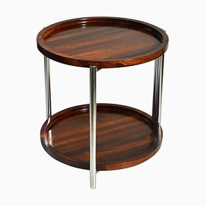 Scandinavian Modern Danish Steel and Wood Side Table, 1960s
