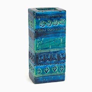 Blaue Rimini Vase von Aldo Londi für Bitossi, 1960er