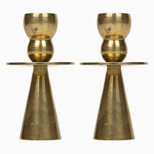 Dänische Kerzenständer von Kara, 1960er, 2er Set