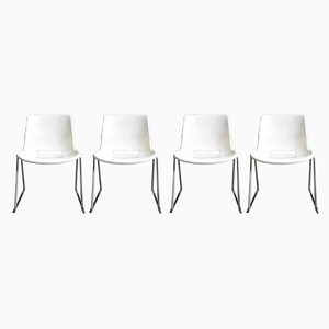 Chrome Dining Chairs by Svante Schoblom for Overman, 1970s, Set of 4