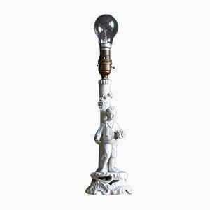 Vintage Porcelain Sculpture Table Lamp