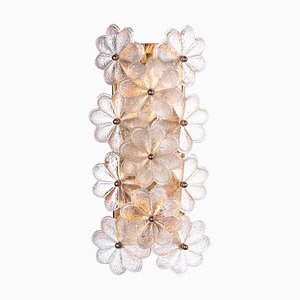German Glass Sconce by Ernst Palme for Palwa, 1960s