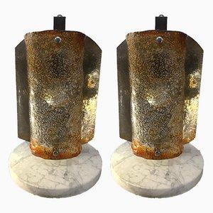 Lampes de Bureau de Made Murano Glass, années 70, Set de 2