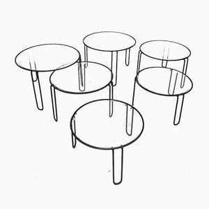 Coffee Tables, 1970s, Set of 6