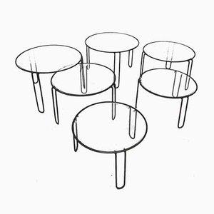 Tables Basses, années 70, Set de 6