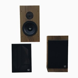 Mid-Century Model Concerto Speakers from Kef, Set of 2