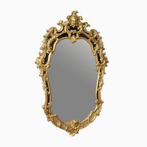 Italienischer Spiegel mit goldfarbenem Rahmen, 1950er