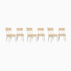 Antique Gustavian Dining Chairs, Set of 6