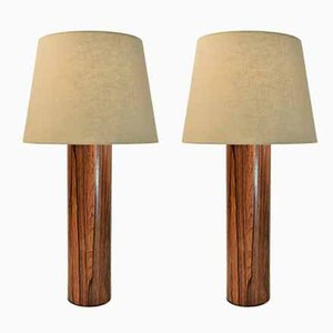 Jacaranda Table Lamps by Uno & Östen Kristiansson for Luxus, 1960s, Set of 2