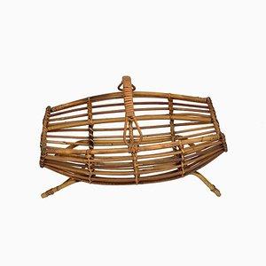 Portariviste in bambù e vimini di Franco Albini, anni '60