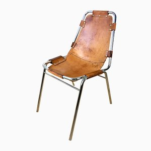 Les Arcs Leather Dining Chair by Charlotte Perriand, 1960s