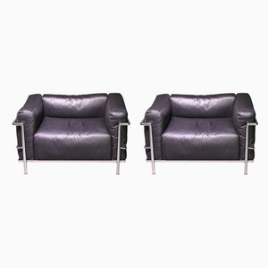 LC3 Armchairs by Le Corbusier for Cassina, 1960s, Set of 2