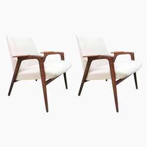 Vintage Model Ruster Armchairs by Yngve Ekstrom for Pastoe, 1960s, Set of 2