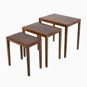Danish Palisander Rosewood Nesting Tables, 1960s