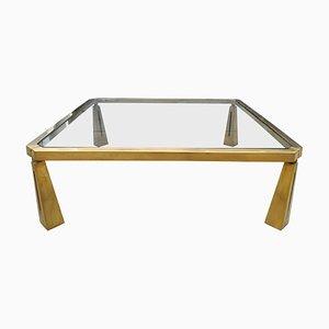 Table Basse en Bronze par Peter Ghyczy, années 80