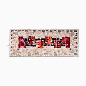 Brutalistische Wandleuchte aus Beton & Mosaik, 1970er