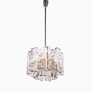 Ice Glass Chandelier by J. T. Kalmar for Kalmar, 1960s