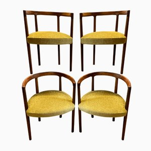 Rosewood Model 195 Dining Chairs by Ole Gjerløv-Knudsen & Torben Lind for France & Søn / France & Daverkosen, 1960s, Set of 4